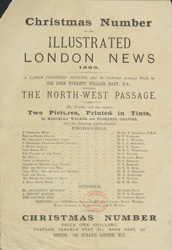Advert for the Christmas edition of the Illustrated London News, reverse side